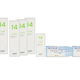 Acuvue Oasys for Astigmatism 8 x 6 Zwei-Wochenlinsen + Lensy Care 14 Jahres-Sparpaket