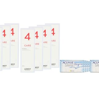 Acuvue Oasys for Astigmatism 8 x 6 Zwei-Wochenlinsen + Lensy Care 4 Jahres-Sparpaket
