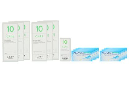 Acuvue Oasys for Presbyopia 8 x 6 Zwei-Wochenlinsen + Lensy Care 10 Jahres-Sparpaket