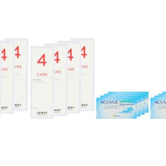 Acuvue Oasys for Presbyopia 8 x 6 Zwei-Wochenlinsen + Lensy Care 4 Jahres-Sparpaket