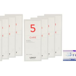 Air Optix Multifocal 4 x 6 Monatslinsen + Lensy Care 5 Jahres-Sparpaket
