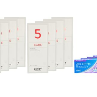 Air Optix plus HydraGlyde Multifocal 4 x 6 Monatslinsen + Lensy Care 5 Jahres-Sparpaket