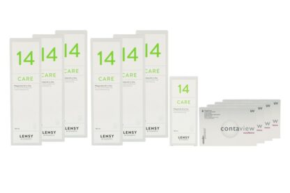 Contaview excellence UV 4 x 6 Monatslinsen + Lensy Care 14 Jahres-Sparpaket