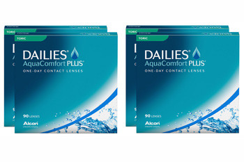 Dailies AquaComfort Plus Toric 2x180 Tageslinsen Sparpaket 6 Monate