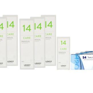 Extreme H2O 54 Toric LC von Hydrogel Vision Corp. & Lensy Care 14, Jahres-Sparpaket