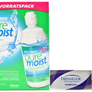 Fresh Look Colorblends 4 x 2 Monatlinsen + Opti-Free PureMoist All-in-One 2 x 300 ml