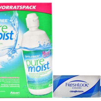 Fresh Look Colors 4 x 2 Monatlinsen + Opti-Free PureMoist All-in-One 2 x 300 ml