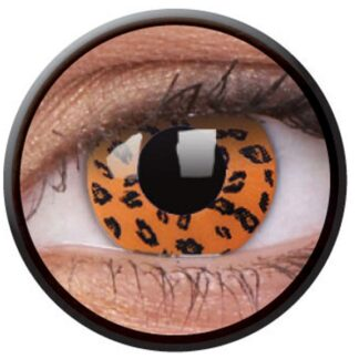 Funny Lens Yellow Leopard