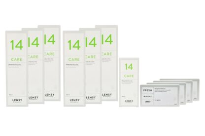 Lensy Monthly Fresh Spheric - Lensy Care 14, Jahres-Sparpaket