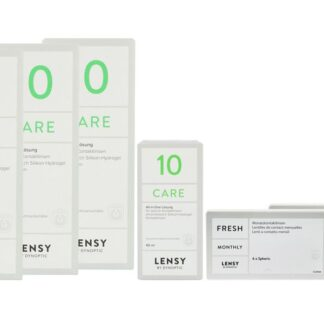 Lensy Monthly Fresh Spheric & Lensy Care 10, Halbjahres-Sparpaket
