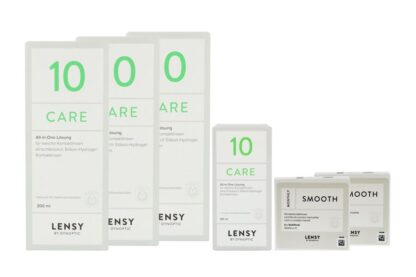Lensy Monthly Smooth Multifocal 2 x 6 Monatslinsen + Lensy Care 10 Halbjahres-Sparpaket