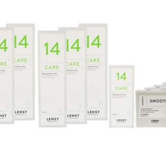 Lensy Monthly Smooth Multifocal 4 x 6 Monatslinsen + Lensy Care 14 Jahres-Sparpaket