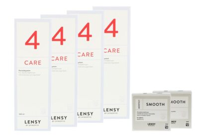 Lensy Monthly Smooth Spheric - Lensy Care 4, Halbjahres-Sparpaket