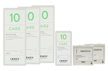 Lensy Monthly Smooth Toric - Lensy Care 10, Halbjahres-Sparpaket