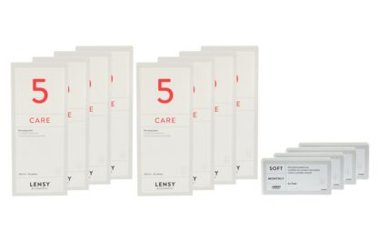 Lensy Monthly Soft Toric 4 x 6 Monatslinse + Lensy Care 5 Jahres-Sparpaket