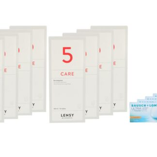 Ultra for Astigmatism 4 x 6 Monatslinsen + Lensy Care 5 Jahres-Sparpaket