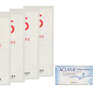 Acuvue Oasys 4 x 6 Zwei-Wochenlinsen + Lensy Care 5 Halbjahres-Sparpaket