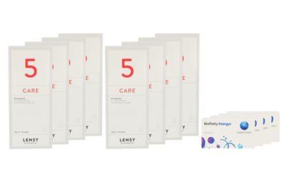 Biofinity Energys 4 x 6 Monatslinsen + Lensy Care 5 Jahres-Sparpaket