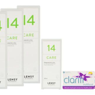 Clariti Multifocal 2 x 6 Monatslinsen + Lensy Care 14 Halbjahres-Sparpaket