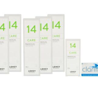 Clariti elite 4 x 6 Monatslinsen + Lensy Care 14 Jahres-Sparpaket