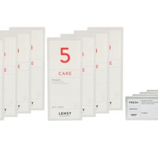 Lensy Monthly Fresh Spheric 4 x 6 Monatslinsen + Lensy Care 5 Jahres-Sparpaket