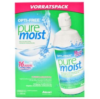 Opti-Free Pure Moist Doppelpack 2 x 300 ml All-in-One Lösung
