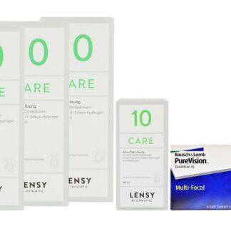 Pure Vision Multifocal 2 x 6 Monatslinsen + Lensy Care 10 Halbjahres-Sparpaket