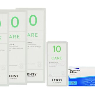SofLens 59 2 x 6 Monatslinsen + Lensy Care 10 Halbjahres-Sparpaket